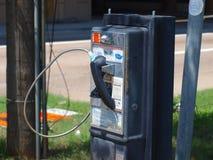 Vecchio telefono di paga pubblico di AT&T Fotografia Stock Libera da Diritti