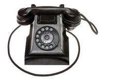 Vecchio telefono dial-up rotatorio nero classico Fotografia Stock Libera da Diritti