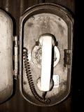 Vecchio telefono industriale di emergenza Fotografia Stock Libera da Diritti
