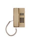 Vecchio telefono isolato su bianco Fotografia Stock