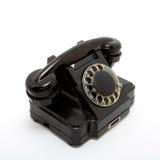Vecchio telefono. Isolato su bianco Fotografia Stock Libera da Diritti