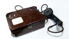 Vecchio telefono militare Fotografia Stock