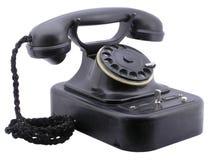 Vecchio telefono nero Immagini Stock Libere da Diritti