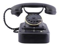 Vecchio telefono nero Immagini Stock