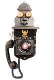 Vecchio telefono nero fotografie stock libere da diritti