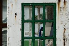 Vecchio telefono pubblico Fotografie Stock Libere da Diritti