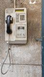 Vecchio telefono pubblico Immagine Stock