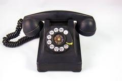 Vecchio telefono rotatorio di stile immagine stock libera da diritti