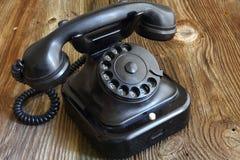 Vecchio telefono stile di legno/d'annata Immagine Stock Libera da Diritti
