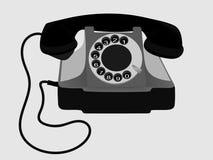 Vecchio telefono Vettore EPS10 Immagine Stock