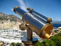 Vecchio telescopio in Monaco Immagini Stock Libere da Diritti