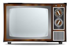 Vecchio televisore Fotografie Stock Libere da Diritti