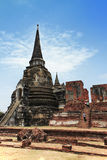 Vecchio tempiale del Siam di Ayutthaya immagine stock