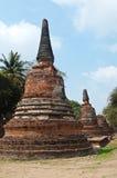 Vecchio tempiale di Ayutthata, Tailandia Fotografia Stock Libera da Diritti