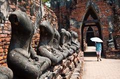 Vecchio tempiale di Ayutthata, Tailandia Immagini Stock