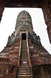 Vecchio tempiale di Ayutthata, Tailandia Fotografie Stock Libere da Diritti