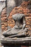 Vecchio tempiale di Ayutthata, Tailandia Fotografia Stock