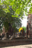 Vecchio tempiale di Ayutthaya, Tailandia Fotografie Stock