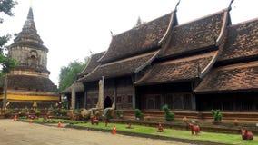 Vecchio tempio in Chiang Mai Thailand Immagine Stock