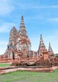 Vecchio tempio della provincia di Ayuthaya (parco storico) di Ayutthaya Asia Immagini Stock Libere da Diritti