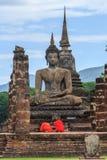 Vecchio tempio di Sukhothai Fotografie Stock Libere da Diritti