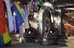 Vecchio tempio a Kathmandu Fotografie Stock Libere da Diritti