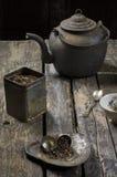 Vecchio tempo del tè di modo Fotografie Stock