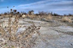 Vecchio terreno abbandonato HDR Fotografia Stock Libera da Diritti