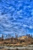 Vecchio terreno abbandonato HDR Fotografia Stock