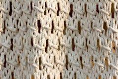 Vecchio tessuto bianco della corda di struttura Fotografie Stock Libere da Diritti