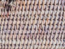 Vecchio tessuto di bambù Fotografie Stock Libere da Diritti