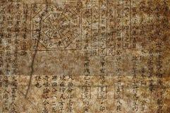 Vecchio testo cinese di feng shui Fotografia Stock Libera da Diritti