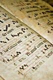 Vecchio testo gregoriano Fotografia Stock
