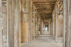 Vecchio tetto abbandonato del sanatorio nel Portogallo fotografie stock