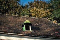 Vecchio tetto con i timpani Fotografia Stock