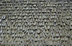 Vecchio tetto dell'assicella Fotografia Stock