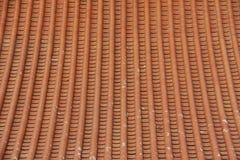 Vecchio tetto delle costruzioni cinesi con il bello modello Fotografia Stock Libera da Diritti