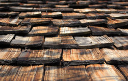 Vecchio tetto di legno marrone Fotografia Stock Libera da Diritti