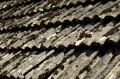 Vecchio tetto di mattonelle Fotografie Stock