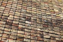 Vecchio tetto di mattonelle Immagine Stock