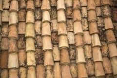 Vecchio tetto di mattonelle rosse Fotografia Stock Libera da Diritti