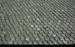 Vecchio tetto di pietra Fotografia Stock Libera da Diritti