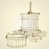 Vecchio torchio Immagine Stock