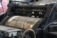 Vecchio torchio tipografico Immagine Stock