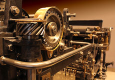 Vecchio torchio tipografico Fotografia Stock Libera da Diritti