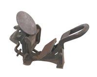 Vecchio torchio tipografico litografico isolato Fotografie Stock Libere da Diritti