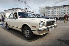 Vecchio Toyota bianco Fotografia Stock Libera da Diritti