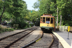 Vecchio tram Immagine Stock