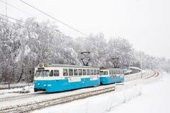 Vecchio tram con mosso Fotografia Stock Libera da Diritti