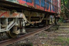 Vecchio tram nel modo fotografia stock libera da diritti